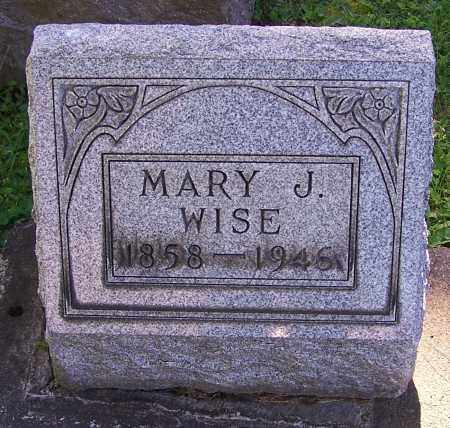 WISE, MARY J. - Stark County, Ohio | MARY J. WISE - Ohio Gravestone Photos