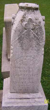 WISE, SUSANNAH - Stark County, Ohio | SUSANNAH WISE - Ohio Gravestone Photos