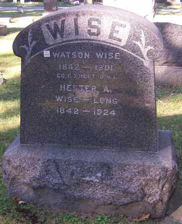 WISE, HESTER A. - Stark County, Ohio | HESTER A. WISE - Ohio Gravestone Photos