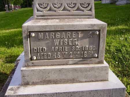 WISER, MARGARET A. - Stark County, Ohio | MARGARET A. WISER - Ohio Gravestone Photos
