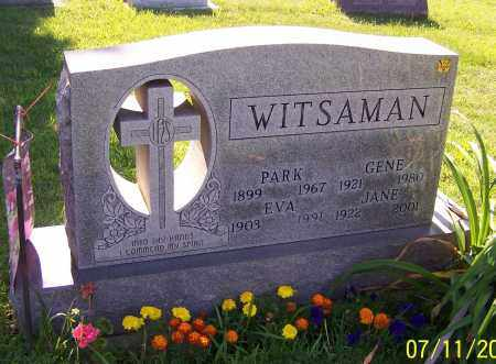 WITSAMAN, JANE - Stark County, Ohio | JANE WITSAMAN - Ohio Gravestone Photos