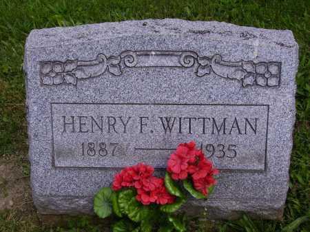 WITTMAN, HENRY F. - Stark County, Ohio | HENRY F. WITTMAN - Ohio Gravestone Photos