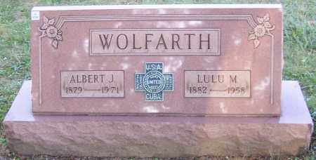 WOLFARTH, ALBERT J. - Stark County, Ohio | ALBERT J. WOLFARTH - Ohio Gravestone Photos