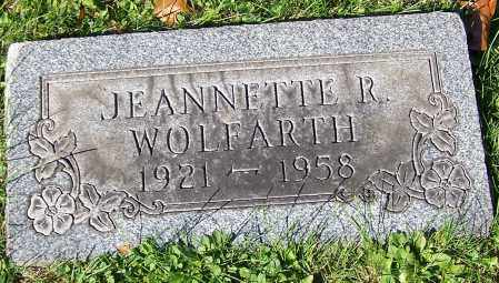 WOLFARTH, JEANNETTE R. - Stark County, Ohio | JEANNETTE R. WOLFARTH - Ohio Gravestone Photos