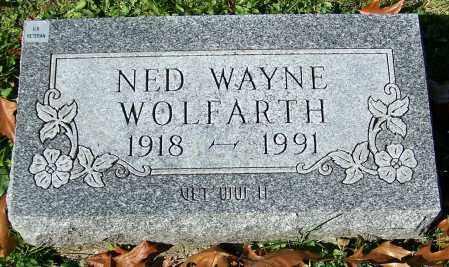 WOLFARTH, NED WAYNE - Stark County, Ohio | NED WAYNE WOLFARTH - Ohio Gravestone Photos
