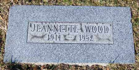 WOOD, JEANNETTE - Stark County, Ohio | JEANNETTE WOOD - Ohio Gravestone Photos