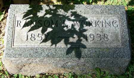 WORKING, RANSOM E. - Stark County, Ohio | RANSOM E. WORKING - Ohio Gravestone Photos