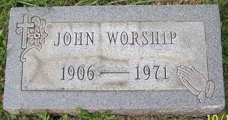 WORSHIP, JOHN - Stark County, Ohio | JOHN WORSHIP - Ohio Gravestone Photos