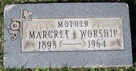 WORSHIP, MARGARET - Stark County, Ohio | MARGARET WORSHIP - Ohio Gravestone Photos