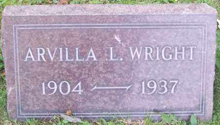 WRIGHT, ARVILLA L. - Stark County, Ohio | ARVILLA L. WRIGHT - Ohio Gravestone Photos
