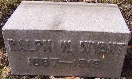 WYANT, RALPH W. - Stark County, Ohio | RALPH W. WYANT - Ohio Gravestone Photos