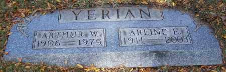 YERIAN, ARTHUR W. - Stark County, Ohio | ARTHUR W. YERIAN - Ohio Gravestone Photos