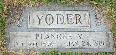 YODER, BLANCHE V. - Stark County, Ohio | BLANCHE V. YODER - Ohio Gravestone Photos