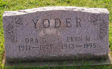 YODER, ORA G. - Stark County, Ohio | ORA G. YODER - Ohio Gravestone Photos