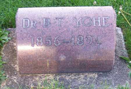 YOHE, B.T. (DR) - Stark County, Ohio | B.T. (DR) YOHE - Ohio Gravestone Photos