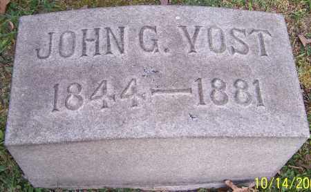 YOST, JOHN G. - Stark County, Ohio | JOHN G. YOST - Ohio Gravestone Photos