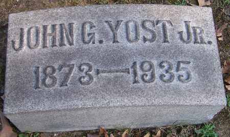 YOST, JOHN G. JR. - Stark County, Ohio | JOHN G. JR. YOST - Ohio Gravestone Photos