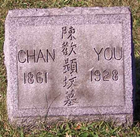 YOU, CHAN - Stark County, Ohio | CHAN YOU - Ohio Gravestone Photos