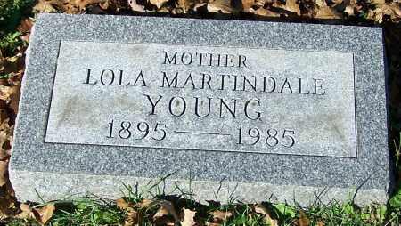 YOUNG, LOLA MARTINDALE - Stark County, Ohio | LOLA MARTINDALE YOUNG - Ohio Gravestone Photos