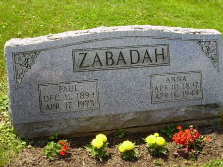 BORDA ZABADAH, ANNA - Stark County, Ohio | ANNA BORDA ZABADAH - Ohio Gravestone Photos