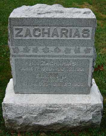 ZACHARIAS, ELLEN D. - Stark County, Ohio | ELLEN D. ZACHARIAS - Ohio Gravestone Photos