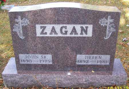ZAGAN, HELEN - Stark County, Ohio | HELEN ZAGAN - Ohio Gravestone Photos