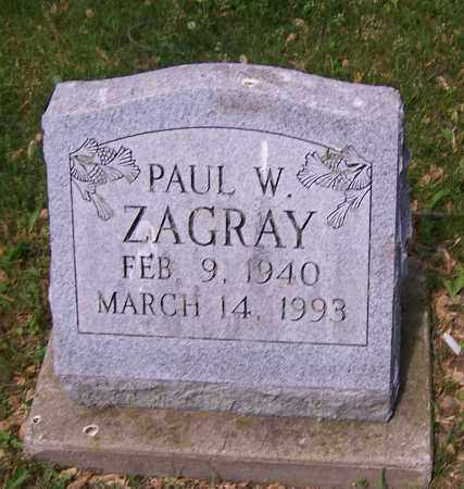 ZAGRAY, PAUL W. - Stark County, Ohio | PAUL W. ZAGRAY - Ohio Gravestone Photos