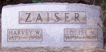ZAISER, HARVEY W. - Stark County, Ohio | HARVEY W. ZAISER - Ohio Gravestone Photos