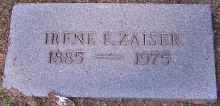 ZAISER, IRENE E. - Stark County, Ohio | IRENE E. ZAISER - Ohio Gravestone Photos