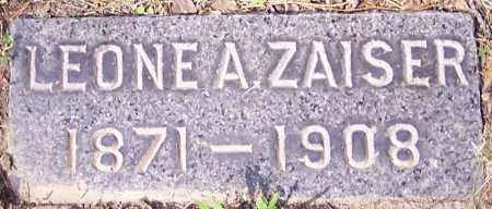 ZAISER, LEONE A. - Stark County, Ohio | LEONE A. ZAISER - Ohio Gravestone Photos