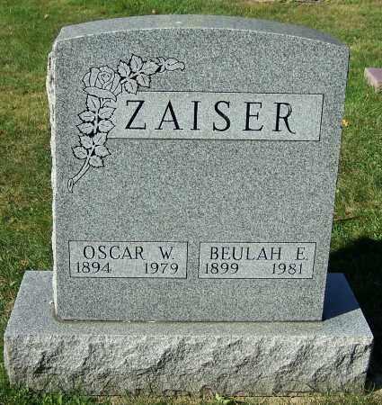 ZAISER, OSCAR W. - Stark County, Ohio | OSCAR W. ZAISER - Ohio Gravestone Photos