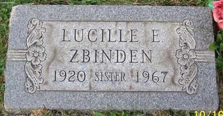 ZBINDEN, LUCILLE E. - Stark County, Ohio | LUCILLE E. ZBINDEN - Ohio Gravestone Photos