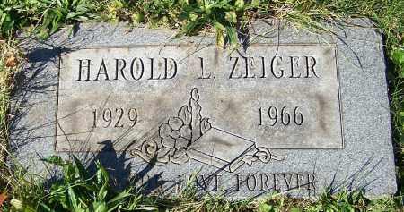 ZEIGER, HAROLD L. - Stark County, Ohio | HAROLD L. ZEIGER - Ohio Gravestone Photos
