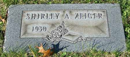 ZEIGER, SHIRLEY A. - Stark County, Ohio | SHIRLEY A. ZEIGER - Ohio Gravestone Photos
