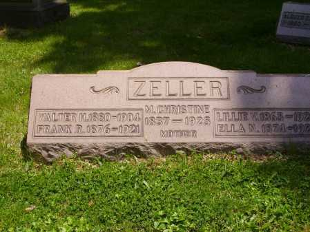 SCHAFER ZELLER, CHRISTINE - Stark County, Ohio | CHRISTINE SCHAFER ZELLER - Ohio Gravestone Photos