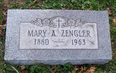 ZENGLER, MARY A. - Stark County, Ohio | MARY A. ZENGLER - Ohio Gravestone Photos