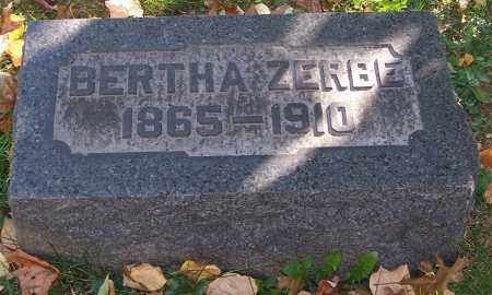 ZERBE, BERTHA - Stark County, Ohio | BERTHA ZERBE - Ohio Gravestone Photos