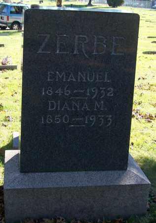 ZERBE, DIANA M. - Stark County, Ohio | DIANA M. ZERBE - Ohio Gravestone Photos