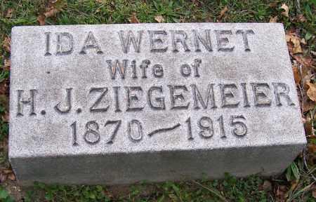 WERNET ZIEGEMEIER, IDA - Stark County, Ohio | IDA WERNET ZIEGEMEIER - Ohio Gravestone Photos