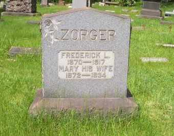 ZORGER, FREDERICK L - Stark County, Ohio | FREDERICK L ZORGER - Ohio Gravestone Photos