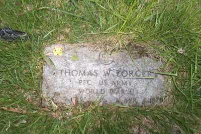 ZORGER, THOMAS W. - Stark County, Ohio | THOMAS W. ZORGER - Ohio Gravestone Photos