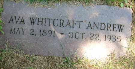 WHITCRAFT ANDREW, AVA - Summit County, Ohio | AVA WHITCRAFT ANDREW - Ohio Gravestone Photos
