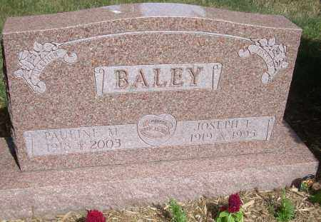 BALEY, JOSEPH E - Summit County, Ohio | JOSEPH E BALEY - Ohio Gravestone Photos