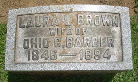 BROWN BARBER, LAURA L - Summit County, Ohio | LAURA L BROWN BARBER - Ohio Gravestone Photos