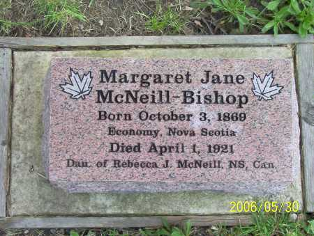 MCNEILL BISHOP, MARGARET JANE - Summit County, Ohio | MARGARET JANE MCNEILL BISHOP - Ohio Gravestone Photos