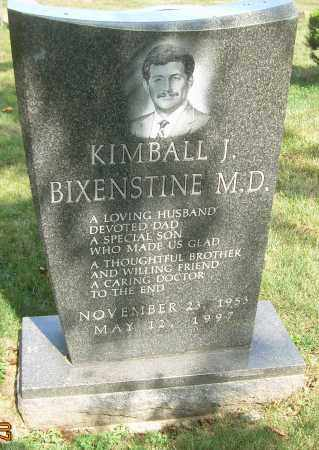 BIXENSTINE, MD, KIMBALL J - Summit County, Ohio | KIMBALL J BIXENSTINE, MD - Ohio Gravestone Photos