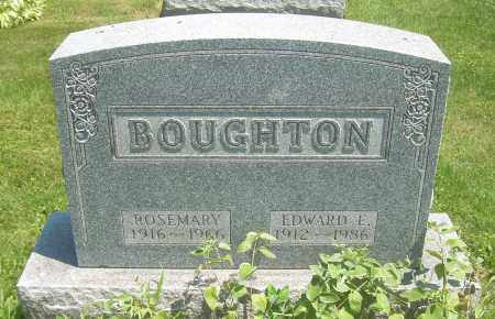 BOUGHTON, EDWARD E - Summit County, Ohio | EDWARD E BOUGHTON - Ohio Gravestone Photos