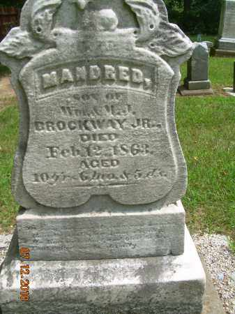 BROCKWAY, MANDRED - Summit County, Ohio | MANDRED BROCKWAY - Ohio Gravestone Photos