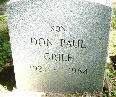 CRILE, DON PAUL - Summit County, Ohio | DON PAUL CRILE - Ohio Gravestone Photos