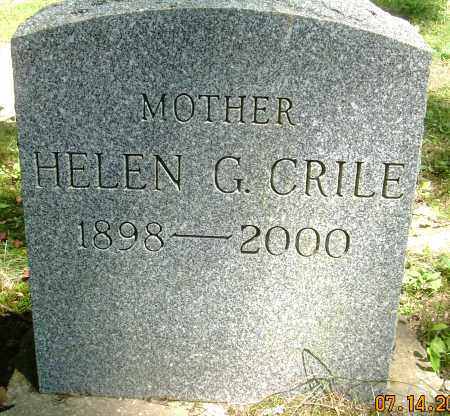 CRILE, HELEN G - Summit County, Ohio | HELEN G CRILE - Ohio Gravestone Photos